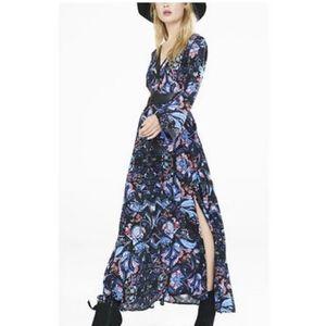 Express Paisley Bell Sleeve Maxi Dress